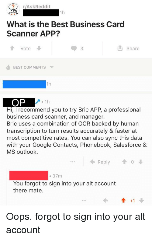 facepalm google and best raskreddit 1h what is the best business - Salesforce Business Card Scanner