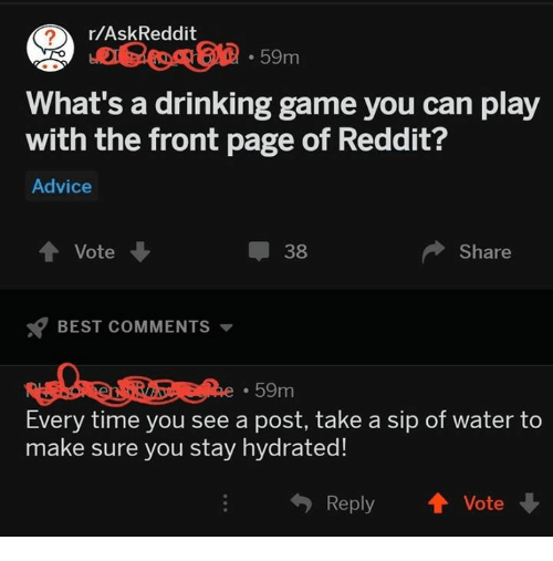 rAskReddit 59m What's a Drinking Game You Can Play With the