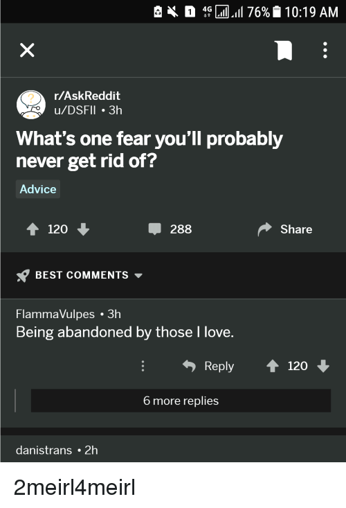 what is the fear of being abandoned