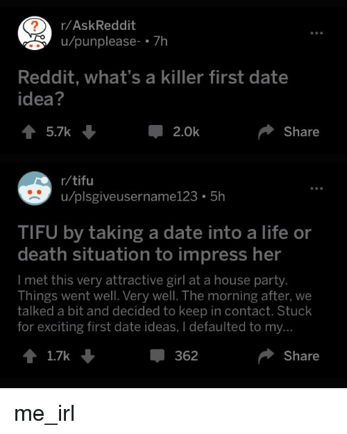 Dating ideas reddit