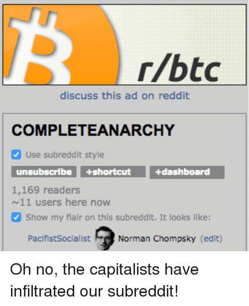 Rbtc Discuss This Ad on Reddit COMPLETEANARCHY v Use