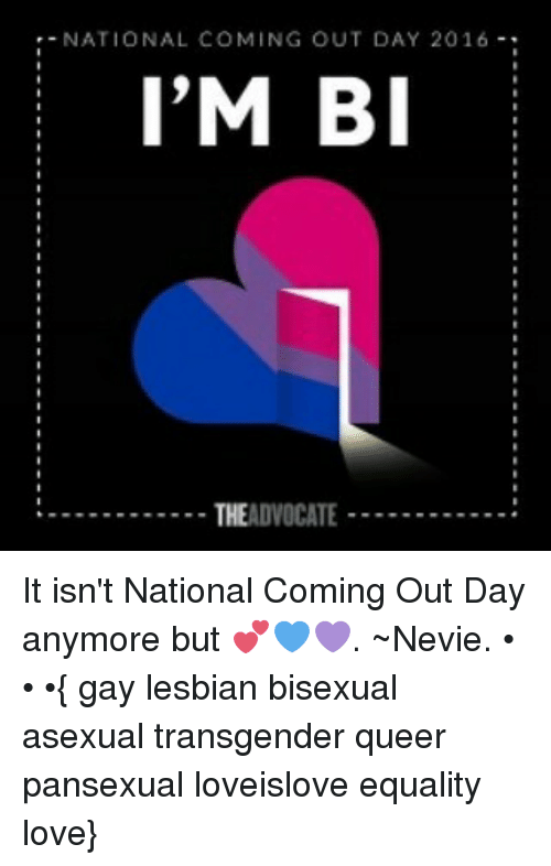 Bisexual coming out