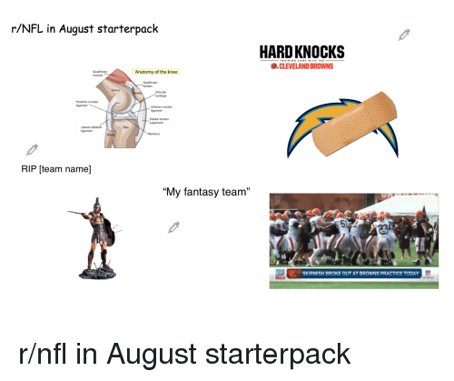 rNFL in August Starterpack HARDKNOCKS CLEVELAND BROWNS