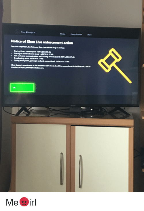 R Pressto Sign in Home Entertainment Store Notice of Xbox