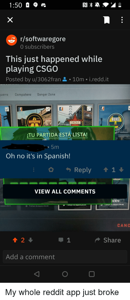 Rsoftwaregore 0 Subscribers This Just Happened While Playing