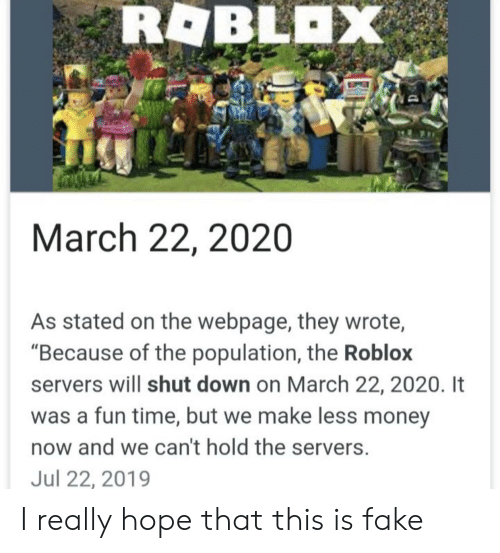 Rablax March 22 2020 Stated On The Webpage They Wrote Because Of