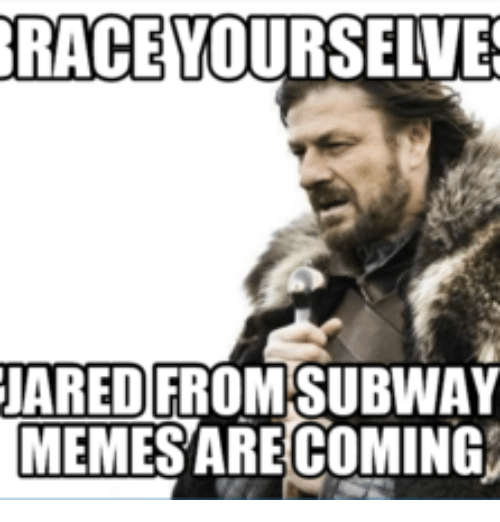 race jared from subway memesare coming 14777327 ✅ 25 best memes about subway pick up lines subway pick up