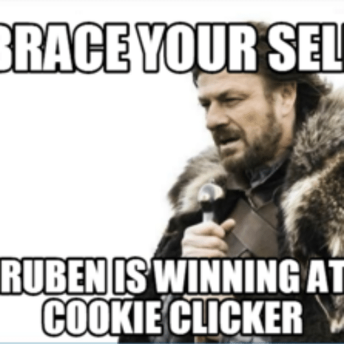 RACE YOUR SEL RUBEN ISWINNING AT COOKIE CLICKER | Sel Meme
