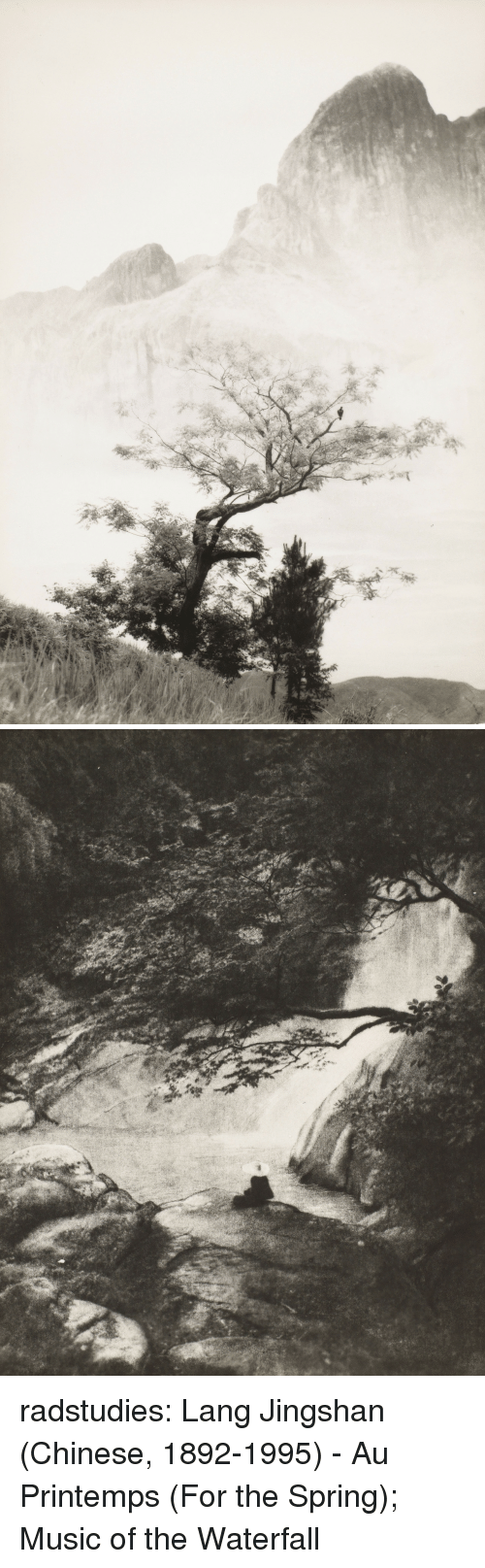 Music, Tumblr, and Blog: radstudies: Lang Jingshan (Chinese, 1892-1995) -Au Printemps (For the Spring); Music of the Waterfall