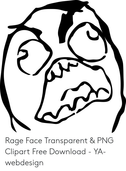 Rage Face Transparent Clipart Free Download