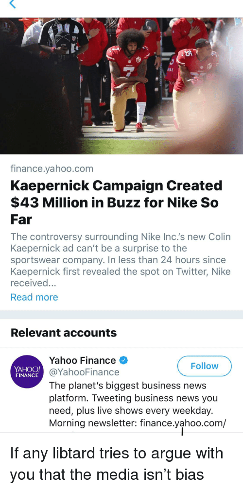 f02e43969383 RAI Financevahoocom Kaepernick Campaign Created  43 Million in Buzz ...