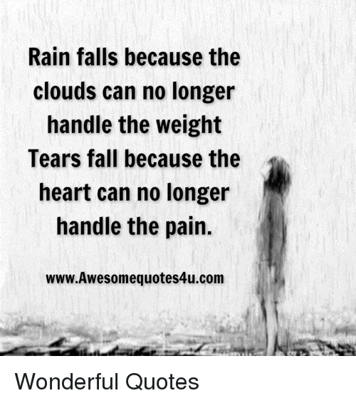 Fall, Memes, And Cloud: Rain Falls Because The Clouds Can No Longer Handle