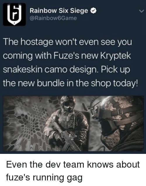 Rainbow Six Siege The Hostage Wont Even See You Coming With Fuzes