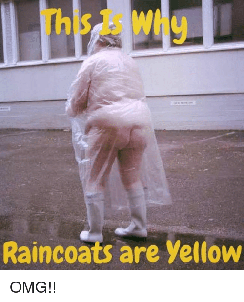 Memes, Omg, and 🤖: Raincoats are yellow OMG!!