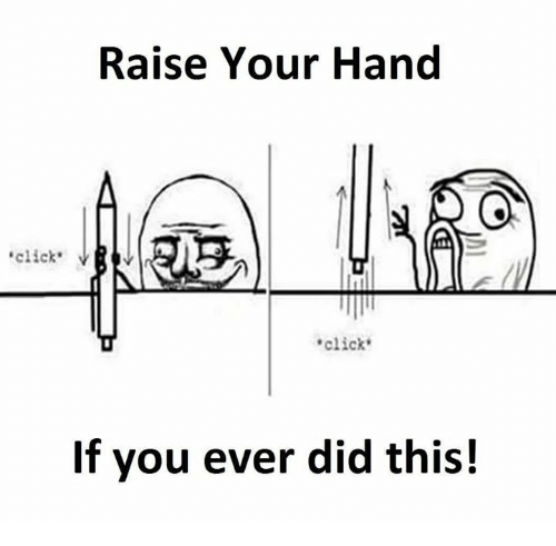 Raise Your Hand Click VRV Click if You Ever Did This! | Click Meme
