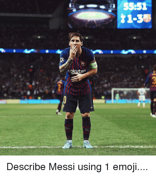 Emoji, Memes, and Messi: Rakuten Describe Messi using 1 emoji....