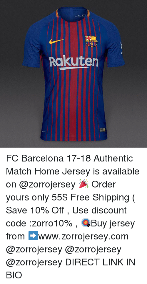 f84f26d10d9 Rakuten FC Barcelona 17-18 Authentic Match Home Jersey Is Available ...