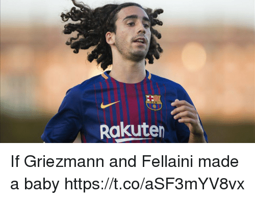 Memes, Baby, and 🤖: Rakuten If Griezmann and Fellaini made a baby https://t.co/aSF3mYV8vx
