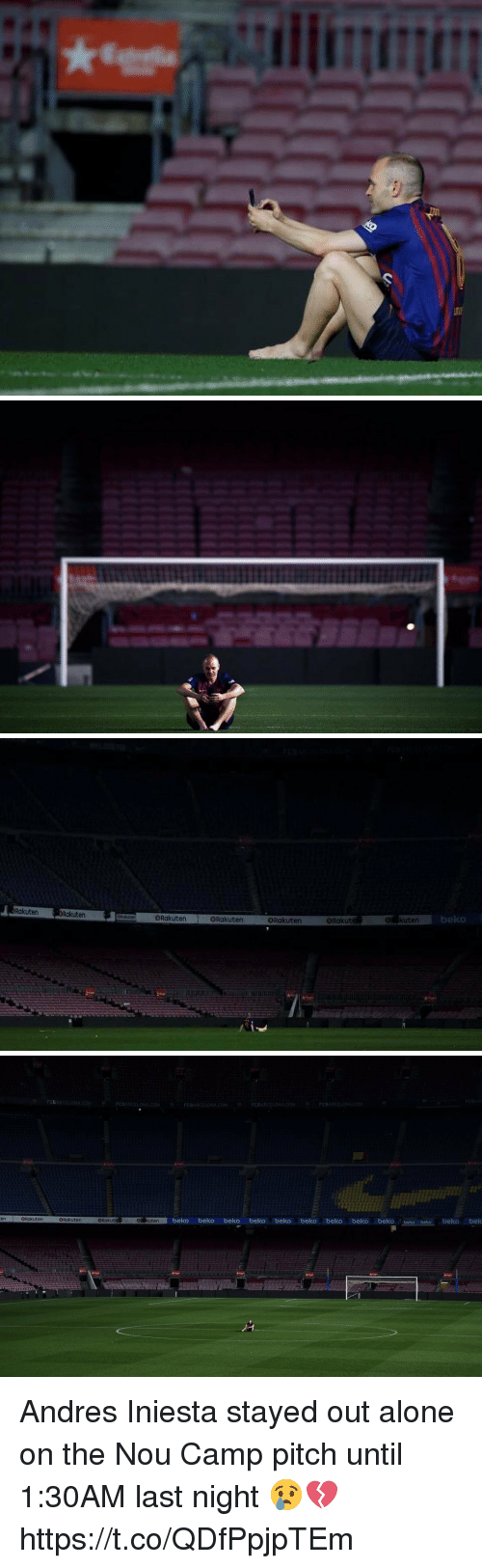 Being Alone, Soccer, and Andres Iniesta: Rakuten  or kuten  beko  Rakuten  ORakuten ORakuten  Rakuten ORo  ORakut   CEARCELONA.COM  CBARCELONA.COM  CBARCELONACOM  CBARCELONA.COM  FCBARCELONACOM  enORakuten  beko beko beko beko beko beko beko beko beko beko belko beko bek  BRakuten  ORakut  OR kuten Andres Iniesta stayed out alone on the Nou Camp pitch until 1:30AM last night 😢💔 https://t.co/QDfPpjpTEm
