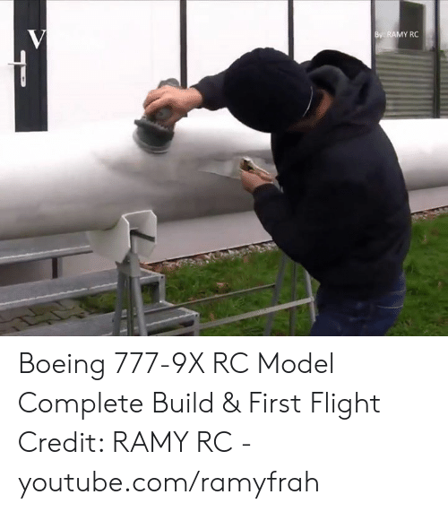 RAMY RC Boeing 777-9x RC Model Complete Build & First Flight