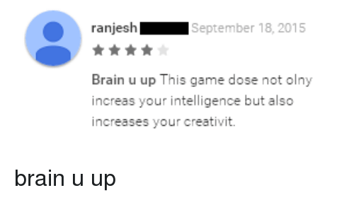 Ranjesh september 18 2015 brain u up this game dose not olny increas brains ups and brain ranjesh september 18 2015 brain u up this ccuart Image collections
