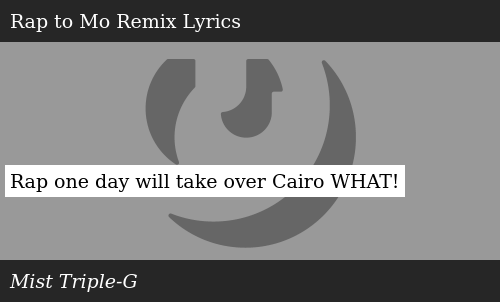 Rap One Day Will Take Over Cairo WHAT! | Meme on ME ME