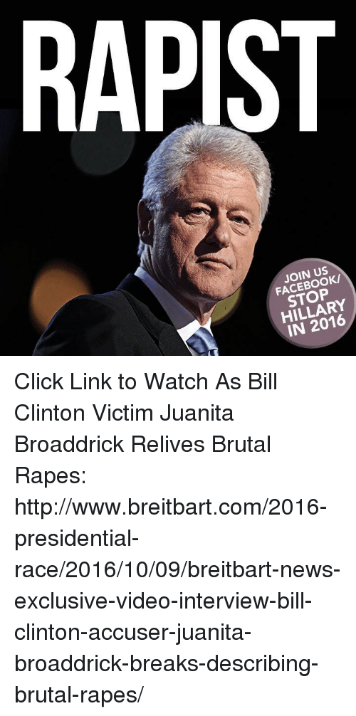 Rapist Join Us Facebook Stop Hillary In 2016 Click Link To Watch As