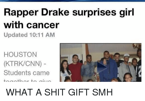 Rapper Drake Surprises Girl With Cancer Updated 1011 AM