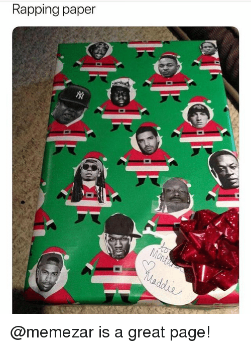 Funny, Meme, and Page: Rapping paper @memezar is a great page!