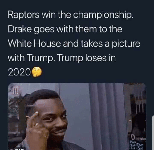 Raptors Win the Championship Drake Goes With Them to the White House