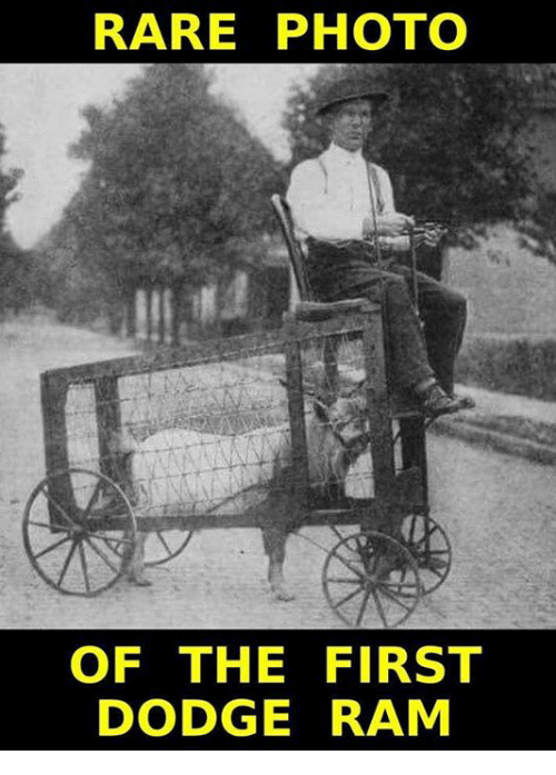 rare photo of the first dodge ram