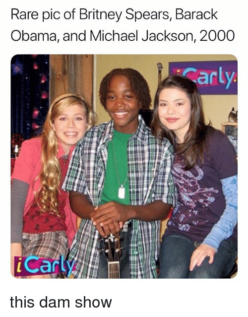 Britney Spears, Michael Jackson, and Obama: Rare pic of Britney Spears, Barack  Obama, and Michael Jackson, 2000  an  Can this dam show