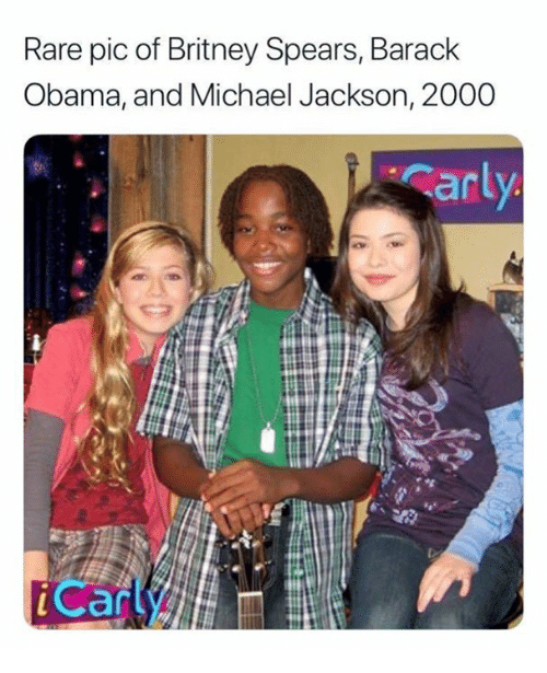 Britney Spears, Memes, and Michael Jackson: Rare pic of Britney Spears, Barack  Obama, and Michael Jackson, 2000  ar  Can