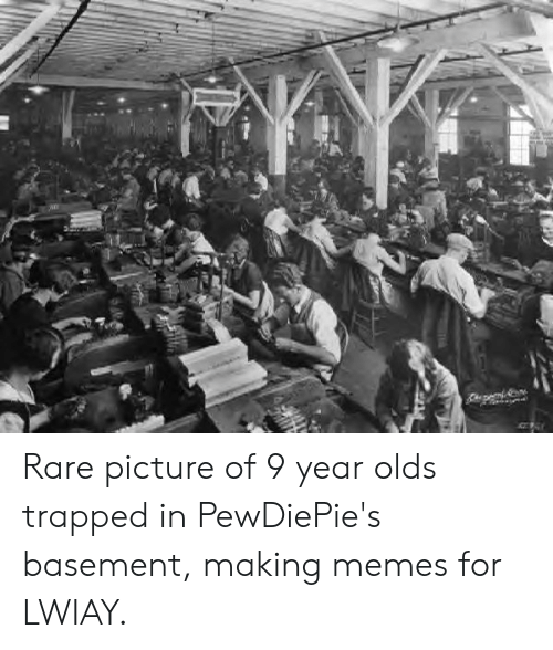 Rare Picture Of 9 Year Olds Trapped In PewDiePie's