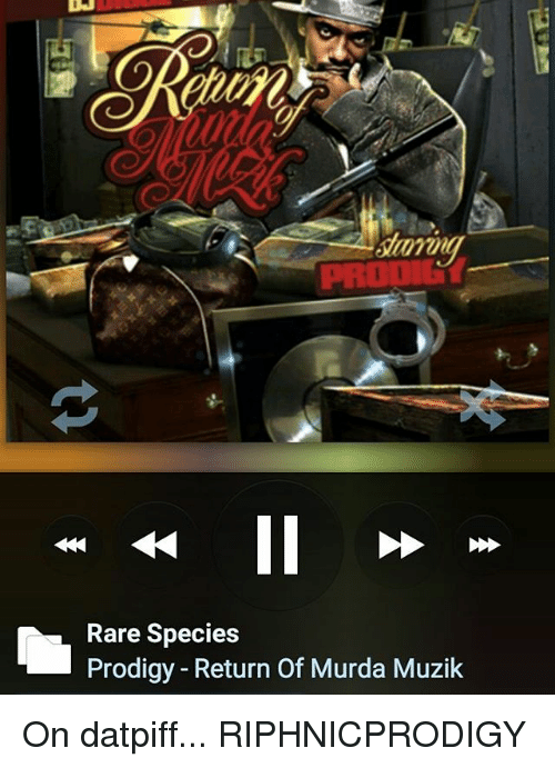 Rare Species Prodigy - Return of Murda Muzik on Datpiff