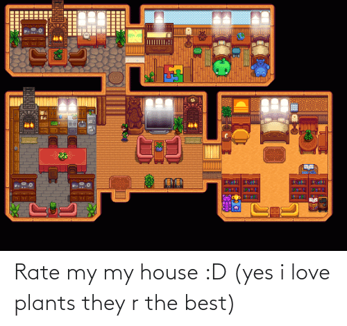 Love, My House, and Best: Rate my my house :D (yes i love plants they r the best)