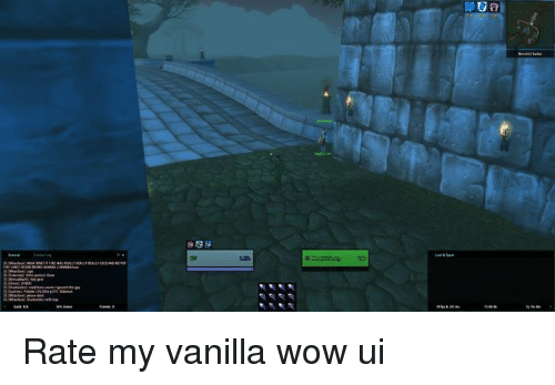 Rate My Vanilla Wow Ui | Wow Meme on ME ME