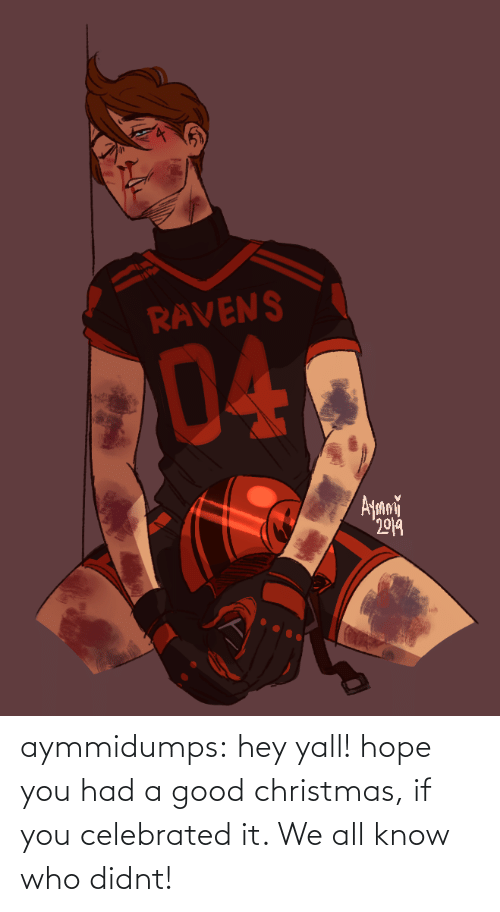 Christmas, Target, and Tumblr: RAVENS  04  Ayani  2019 aymmidumps: hey yall! hope you had a good christmas, if you celebrated it. We all know who didnt!