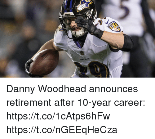 Memes, Ravens, and 🤖: RAVENS Danny Woodhead announces retirement after 10-year career: https://t.co/1cAtps6hFw https://t.co/nGEEqHeCza