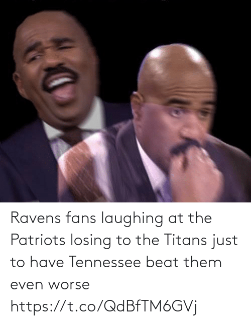 Football, Nfl, and Patriotic: Ravens fans laughing at the Patriots losing to the Titans just to have Tennessee beat them even worse https://t.co/QdBfTM6GVj