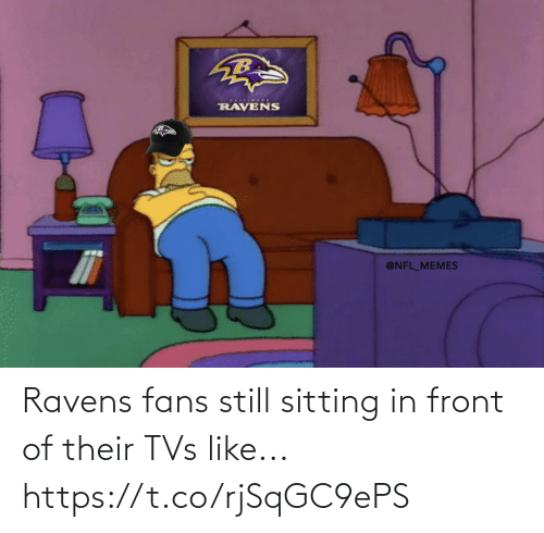 Football, Nfl, and Sports: Ravens fans still sitting in front of their TVs like... https://t.co/rjSqGC9ePS