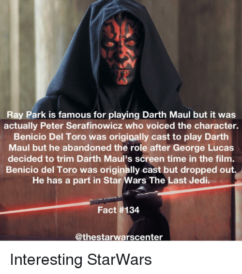 Ray Park Is Famous For Playing Darth Maul But It Was Actually Peter
