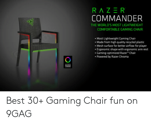 Superb Razer Commander The Worlds Most Lightweight Comfortable Dailytribune Chair Design For Home Dailytribuneorg