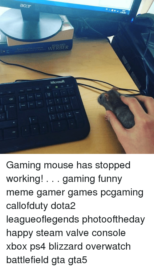 RBER Micr Gaming Mouse Has Stopped Working! Gaming Funny Meme Gamer