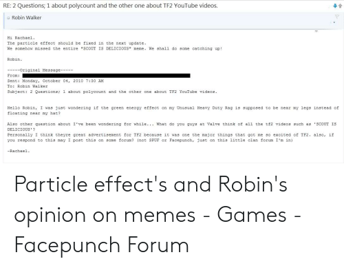 RE 2 Questions 1 About Polycount and the Other One About TF2