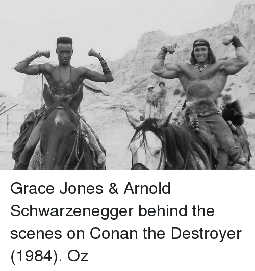 Apologise, arnold schwarzenegger grace jones