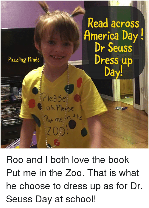 read across america day dr seuss dress up puzzling minds day please oh please me he roo and i. Black Bedroom Furniture Sets. Home Design Ideas