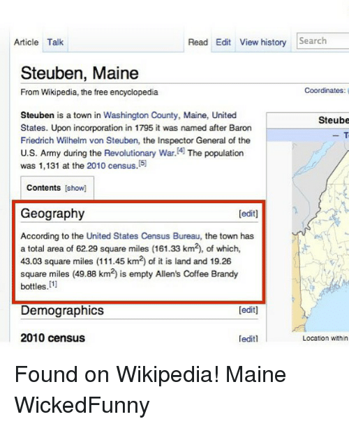 Steuben Maine Map.Read Edit View History Search Article Talk Steuben Maine Coordinates