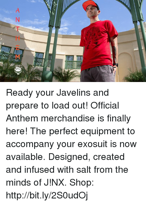 Ready Your Javelins and Prepare to Load Out! Official Anthem