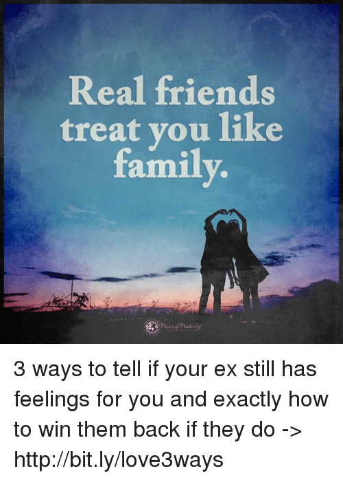 Real Friends Treat You Like Family 3 Ways to Tell if Your Ex
